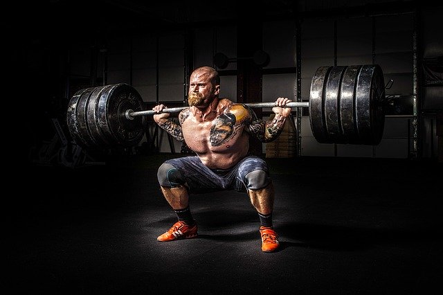 Weight lifted dead lifting a heavy load